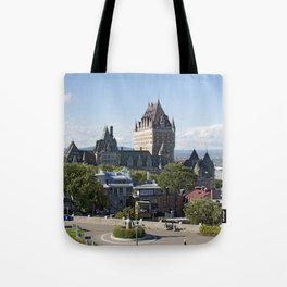Old Quebec City featuring Château Frontenac Tote Bag