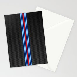 Carbon Racing Stripes Stationery Cards