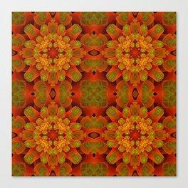 Floractal Tubes Pattern Canvas Print