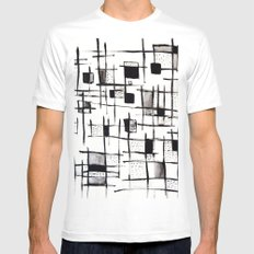FENCES MEDIUM White Mens Fitted Tee