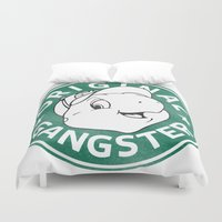 starbucks Duvet Covers featuring Franklin The Turtle - Starbucks Design by CongressTarts
