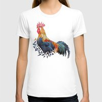 rooster T-shirts featuring Rooster by JumperCat