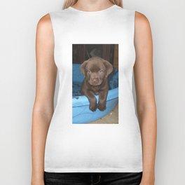 Labrador puppy Biker Tank