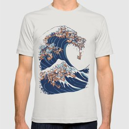 The Great Wave of Dachshunds T-shirt
