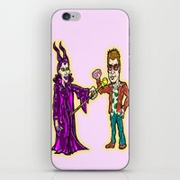 tyler durden iPhone & iPod Skins featuring Brangelina Valentine!  Brad Pitt and Angelina Jolie as Tyler Durden (Fight Club) and Maleficent!  by beetoons