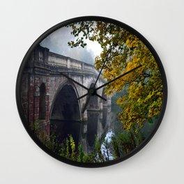 The Bridge At Clumber Park Wall Clock