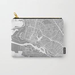 Oakland CA map grey Carry-All Pouch