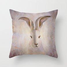 Madame Rabbit Throw Pillow