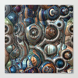 Reflections of Blue And Copper Canvas Print