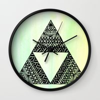 triforce Wall Clocks featuring Triforce by Leonnie's Art