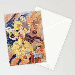 French Night Club Poster: La Pantomime Stationery Cards