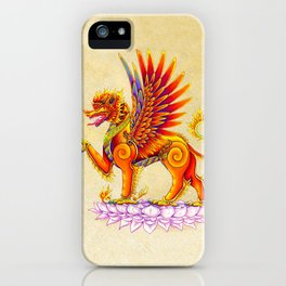 Singha Winged Lion Temple Guardian iPhone Case
