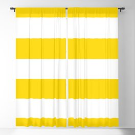 Sunshine Yellow and White Stripes Blackout Curtain