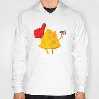 cheese Hoodies featuring cheese by alex eben meyer