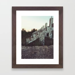 Old bleachers Framed Art Print