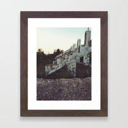 Old bleachers Framed Art Print