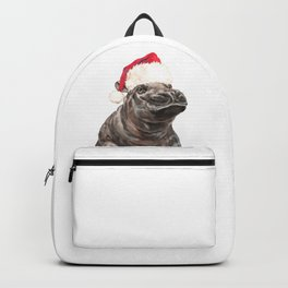 Christmas Baby Hippo Backpack