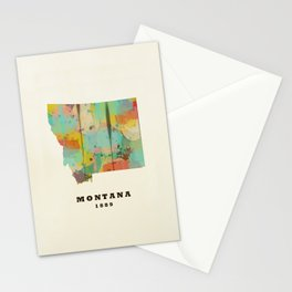 Montana state map modern Stationery Cards