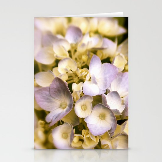 Delicate and Soft - Hydrangea flowers in lavender  Stationery Cards