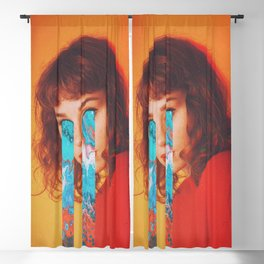 Blue Eyes Blackout Curtain