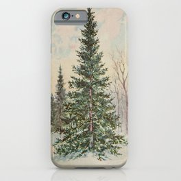 Vintage Print - Familiar Trees and Leaves (1911) - Balsam Fir iPhone Case