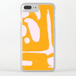 Abstract in Yellow and Cream Clear iPhone Case