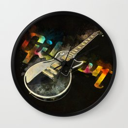 Come on Feel the Noise (Gibson Lp) Wall Clock