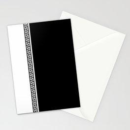 Greek Key 2 - B & W Stationery Cards