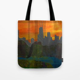 Sunset City (Chicago) Tote Bag