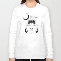 shiva Long Sleeve T-shirts featuring SHIVA by Michael J. Chavez