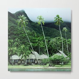 Tropical Paradise In Exotic French Polynesia Metal Print