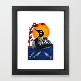 Baby Loon Framed Art Print