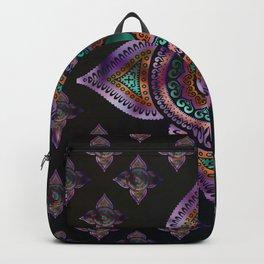 Beautiful  Yin yang in purple teal and orange Backpack