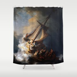 The Storm on the Sea of Galilee, Rembrandt Shower Curtain