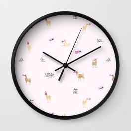 Llama Bubbles Wall Clock