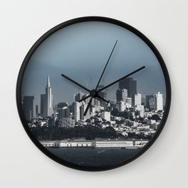 Fall in Downtown San Francisco Wall Clock