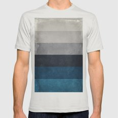 Greece Hues X-LARGE Mens Fitted Tee Silver