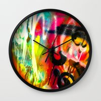 bacon Wall Clocks featuring BACON by soem2014