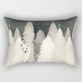 Arctic Wolf Rectangular Pillow