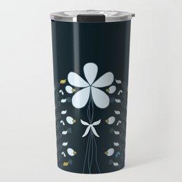 Night Garden Pattern Travel Mug