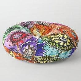 Razzle D Floral Floor Pillow