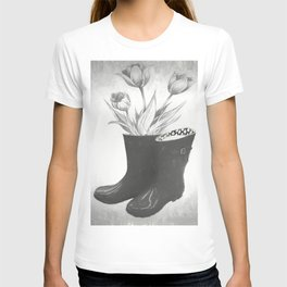 These boots are made for flowers T-shirt