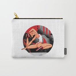 """Sneaker Badge-Yoga girl Cool Noodle: """"At least the sneakers aren't that tight."""" Carry-All Pouch"""