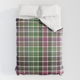 Pink Roses in Anzures 6 Plaid 2 Comforters