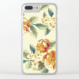 Vintage Blossoms 13 Clear iPhone Case