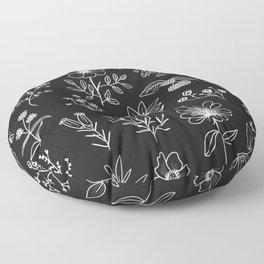 Patagonian Flowers Floor Pillow