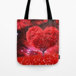 Cosmic love tree Tote Bag