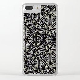 Triangle MÖÓL pattern Clear iPhone Case