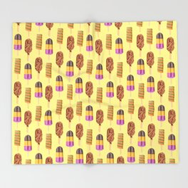 Retro Pops Throw Blanket