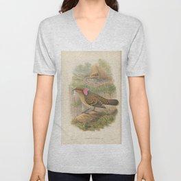 045 Large frilled Bower bird chlamydera occipitalis4 Unisex V-Neck